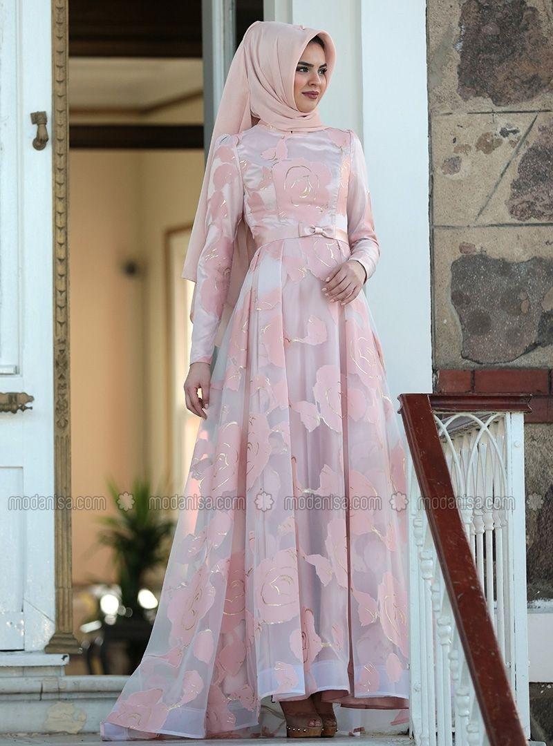 فستان من Lâl By Hilal - أبيض  Gaun, Model, Sifon