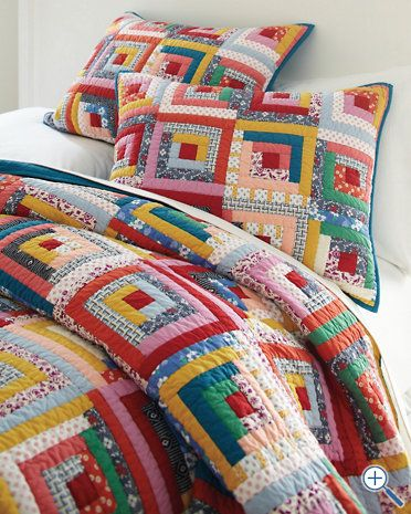 Hideaway Log Cabin Quilt and Sham..I am going to attempt to make my own :P