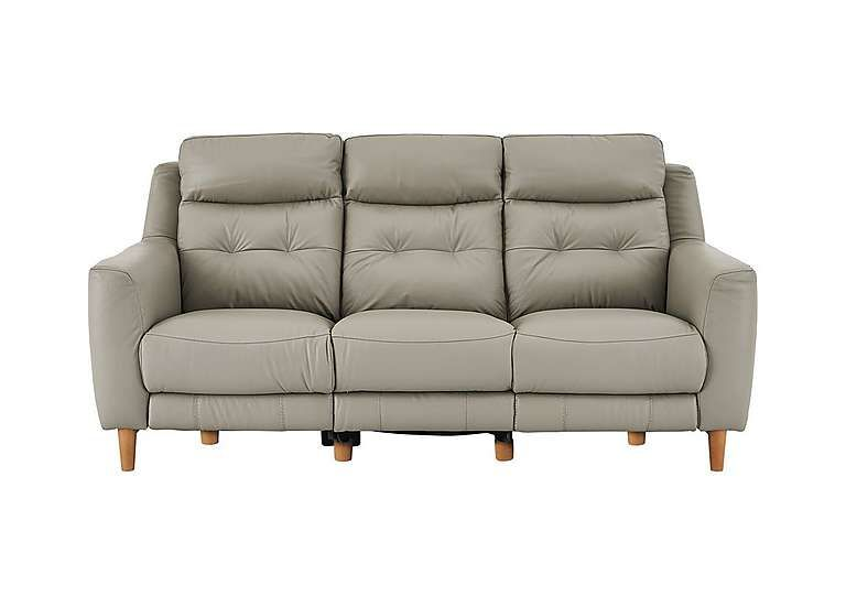 Charmant Compact Collection Bijoux 3 Seater Leather Recliner Sofa