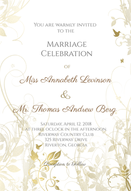 muted floral printable invitation template customize add text and