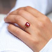 Photo of Large Starry Ruby Ring #accesories