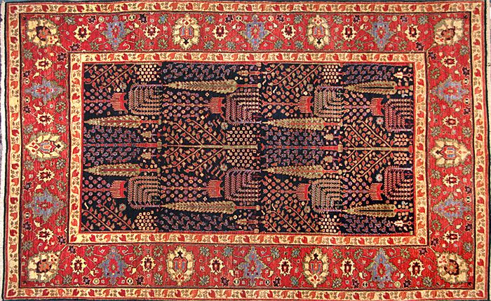 Tree Bidjar From Afghanistan With All Natural Dyes This Carpet Is A Visual Knock Out Nomad Rug Persian Tribal Rugs