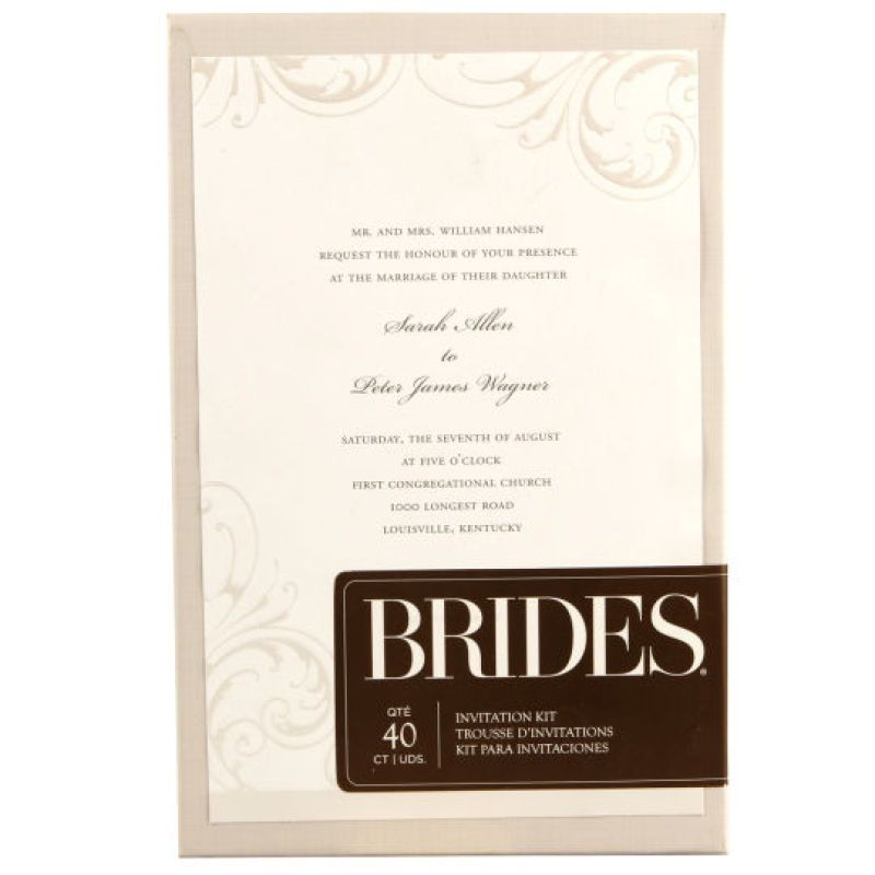Brides Wedding Invitation Kit: Brides® White Wisp Invitation Kit