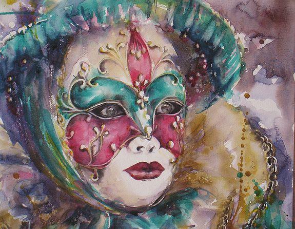 De venise pinterest venise carnaval et carnaval venise - Masque a peinture ...