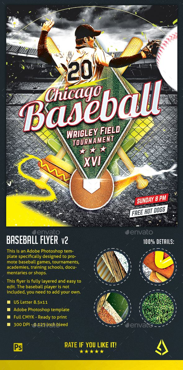 baseball nights flyer baseball tournament poster template by