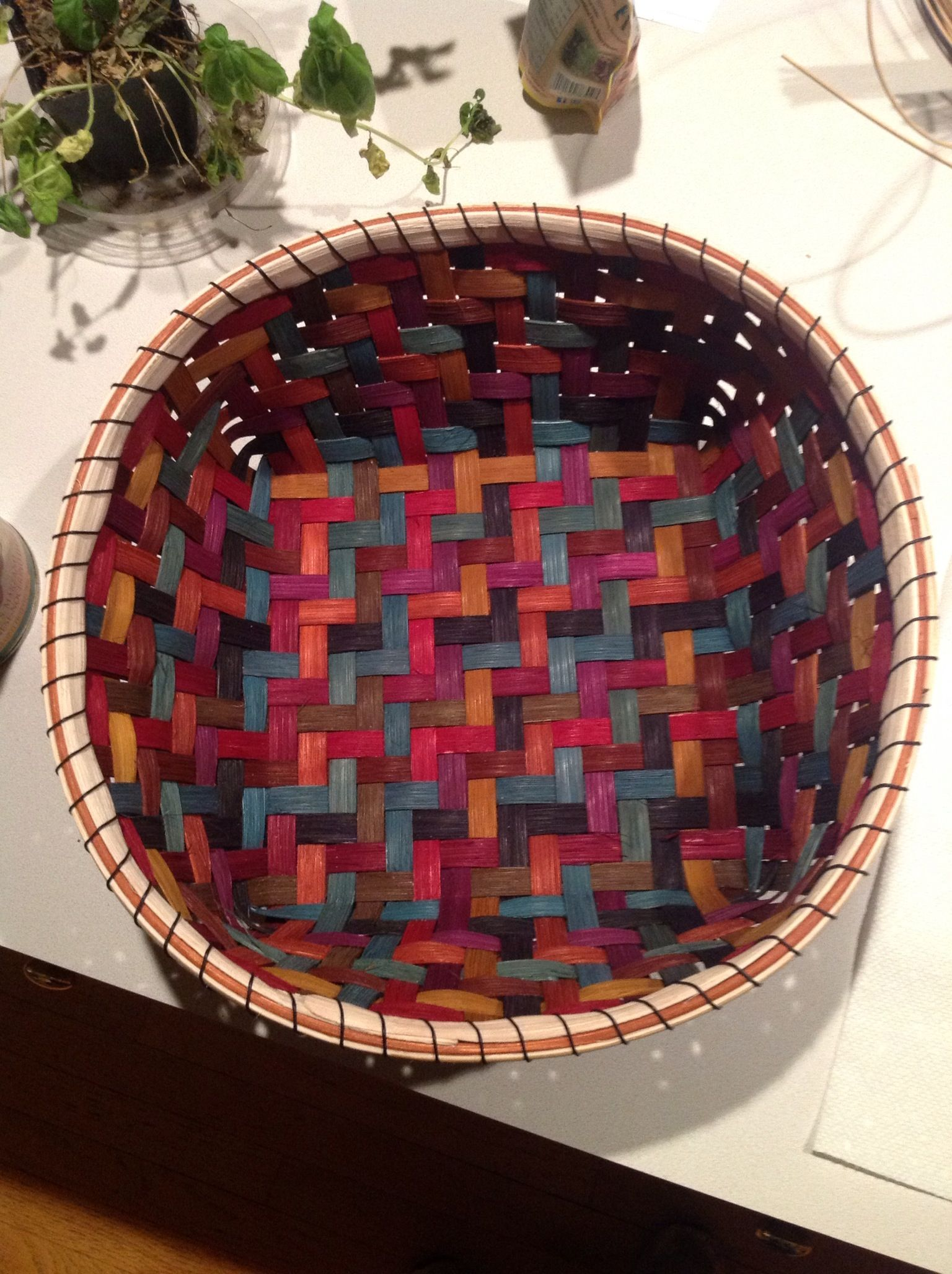 Twill basket ( from class with teacher Anne Bowers )