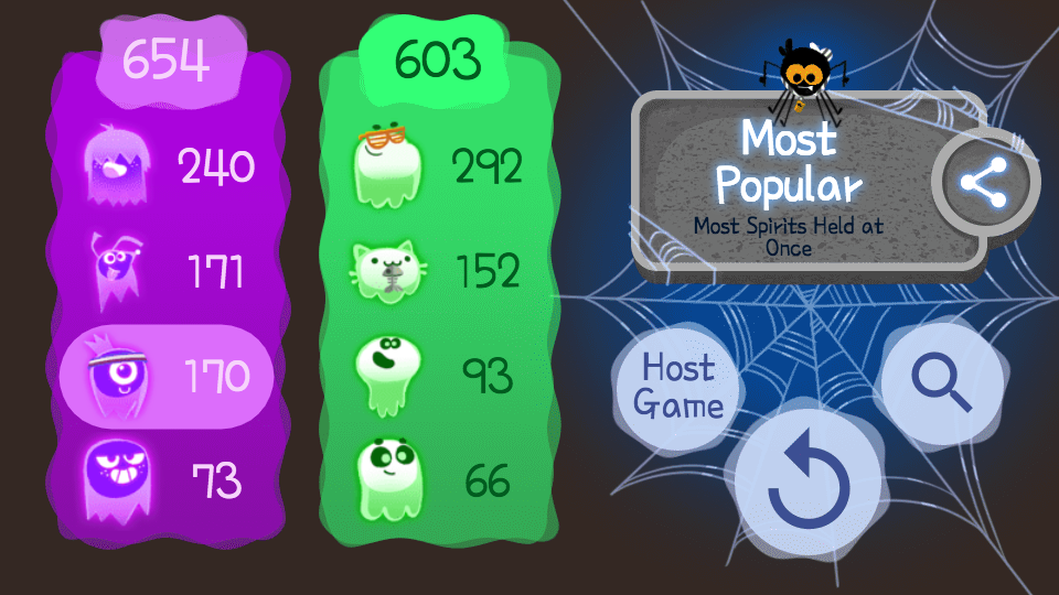 Google Halloween Game Scoreboard Google halloween game