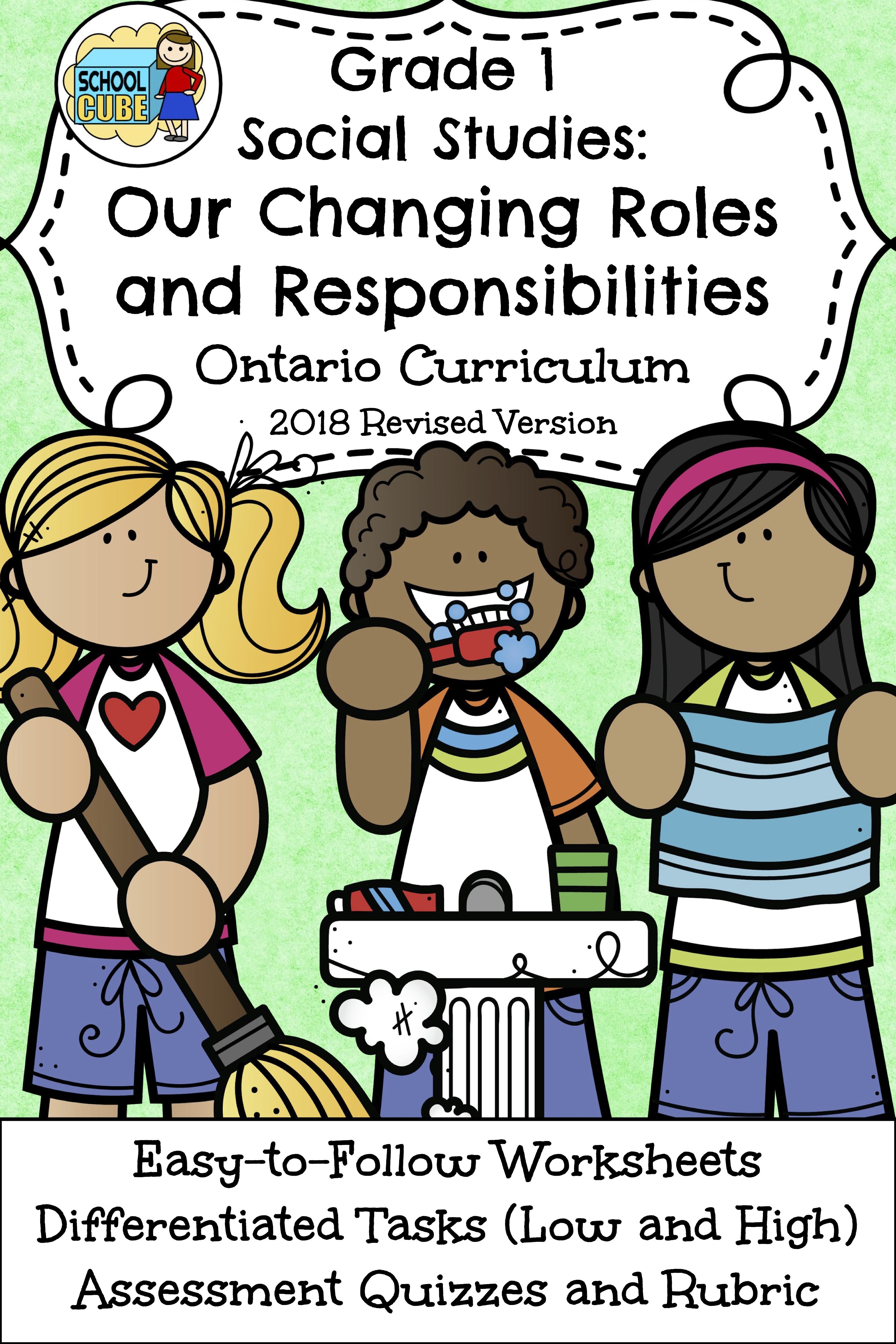 Grade 1 Social Stu S Ontario Our Changing Roles And