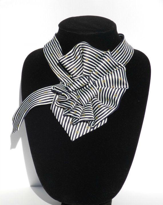 Ladies Necktie Scarf / Rene Chagal Hand Made Silk