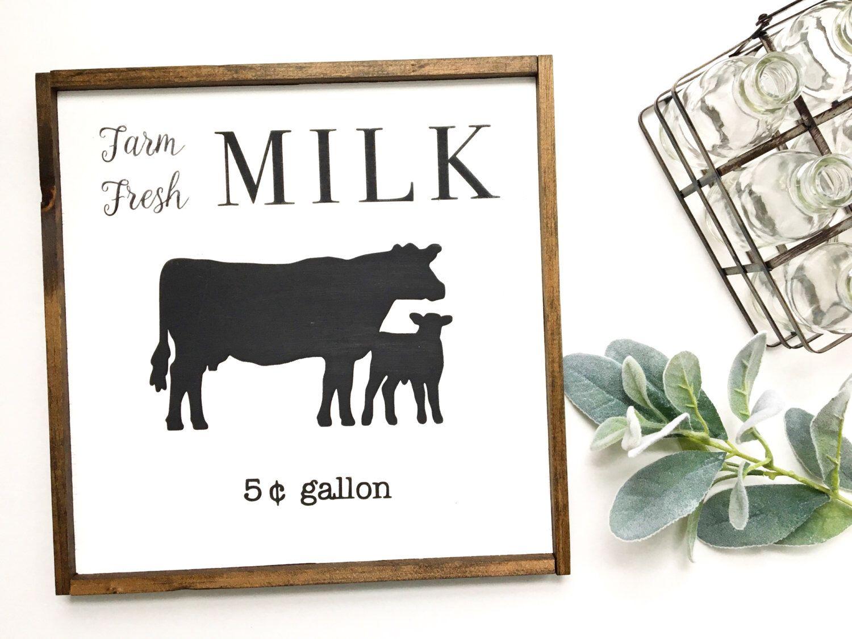 Farm Fresh Milk Sign, Milk Sign, Farmhouse Kitchen, Farmhouse Decor, Kitchen Sign,vintage sign, Fresh Milk Sign, Farm Sign, Farmhouse Sign by TheMacadamiaShop on Etsy https://www.etsy.com/listing/484168824/farm-fresh-milk-sign-milk-sign-farmhouse
