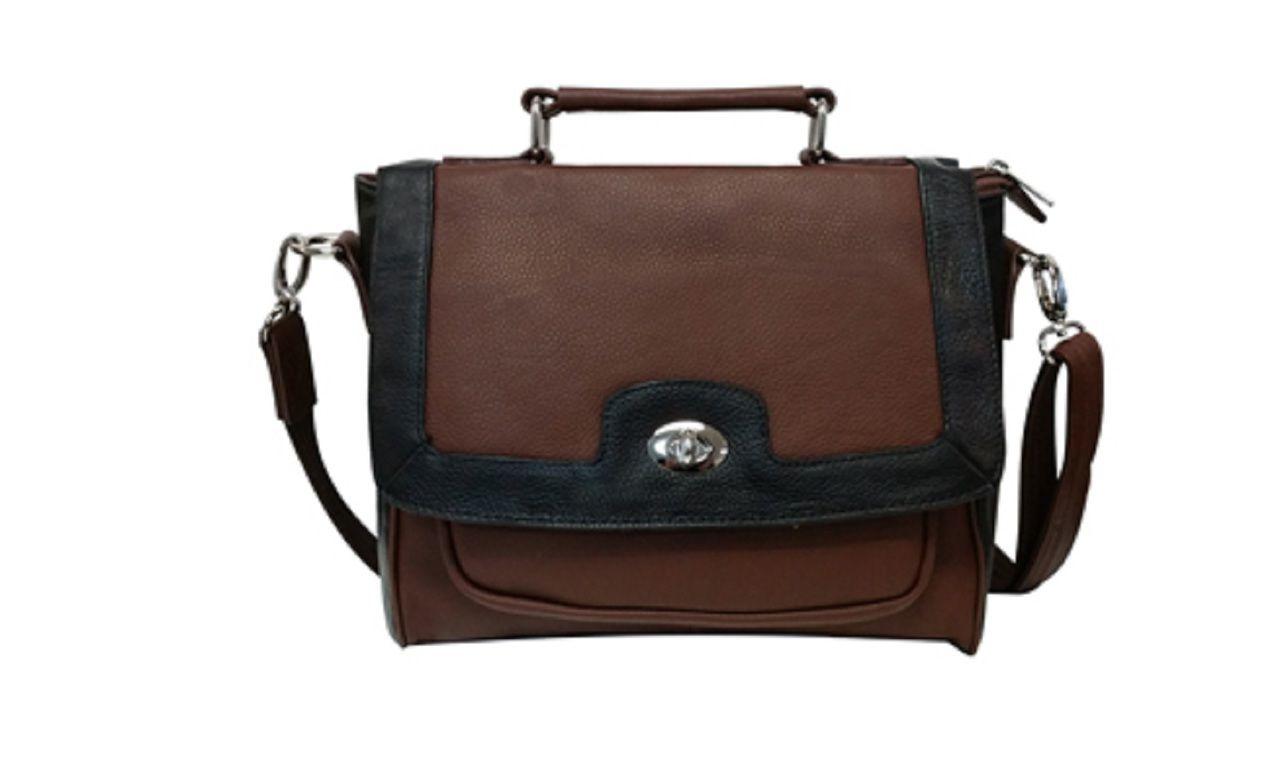 b2b844447669 Roma Leathers 7040 Conceal Carry Leather Handbag Locking Cross Body ...