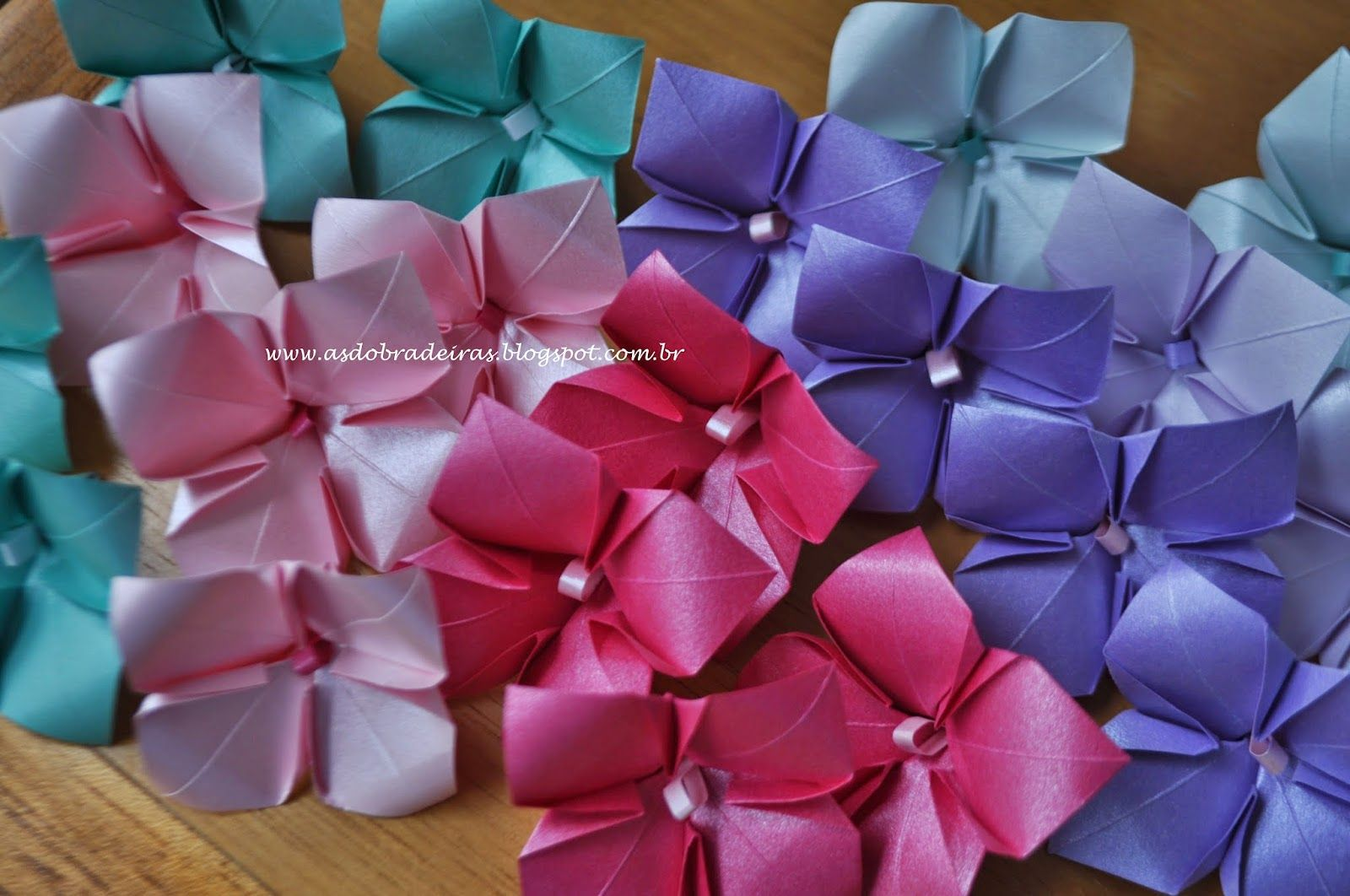 As Dobradeiras - Origami: Little Hydrangeas