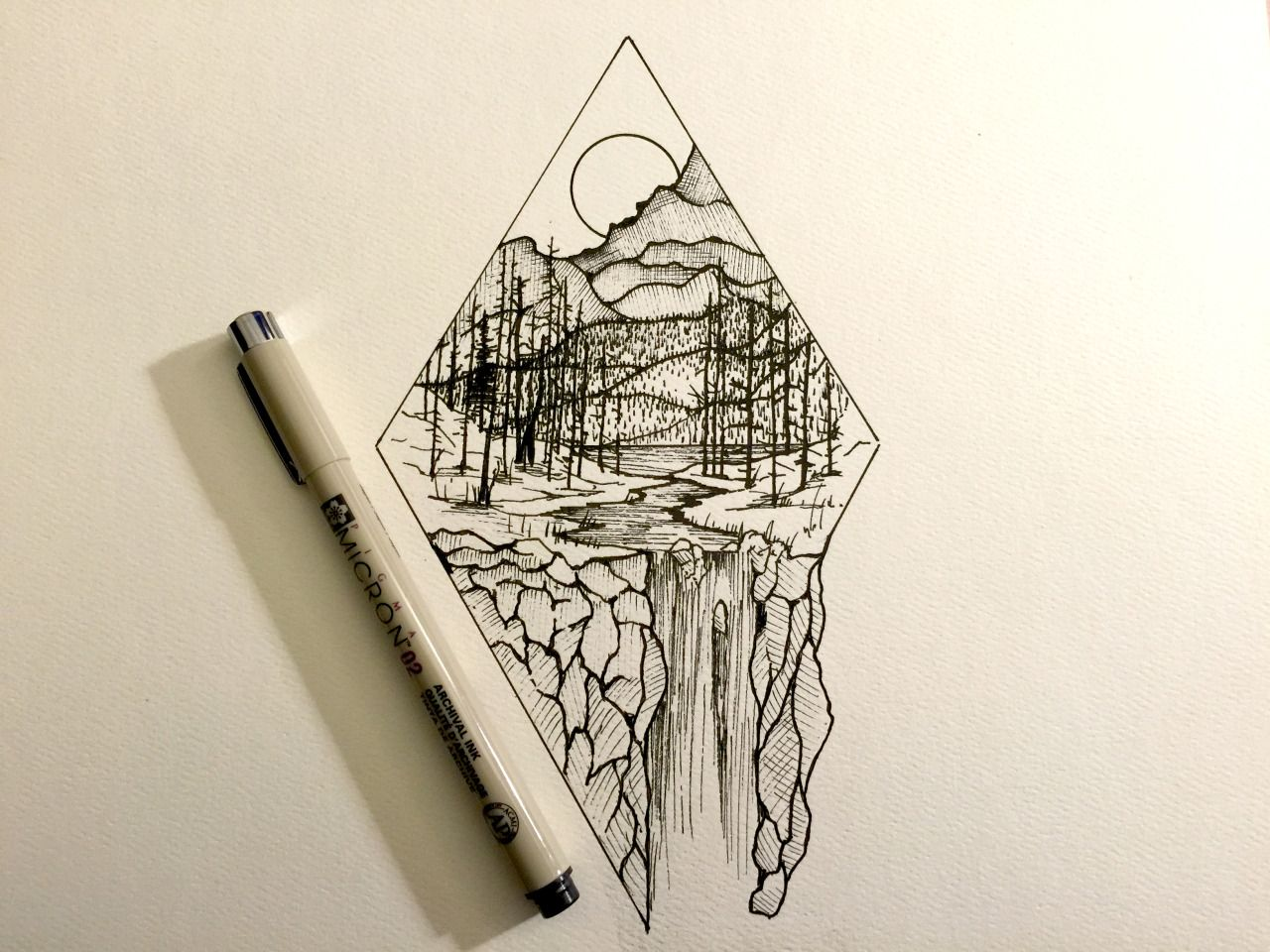 Line Drawing Diamond : Derek myers illustration maine shape with concept line