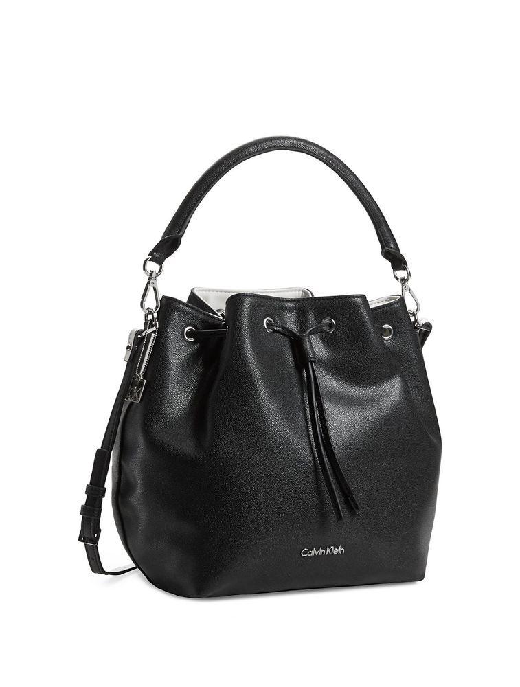 Calvin Klein White Label Madeline Drawstring Bucket Bag Calvinklein Shoulderbag