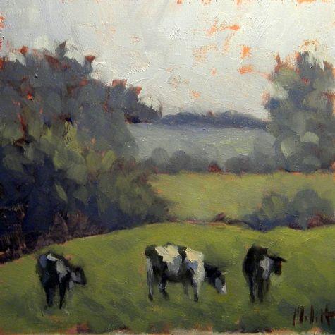 Holstein Cows Painting Summer Landscape Oil Painting Original Art Painting By Heidi Malott Dailypainters Com Cow Painting Art Painting Oil Painting Landscape