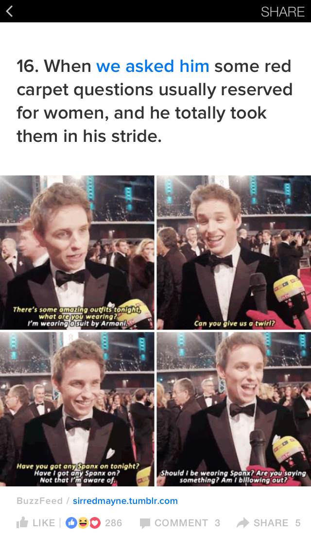 5 20 2018 7 17p The Academy Awards Red Carpet 2015: Eddie