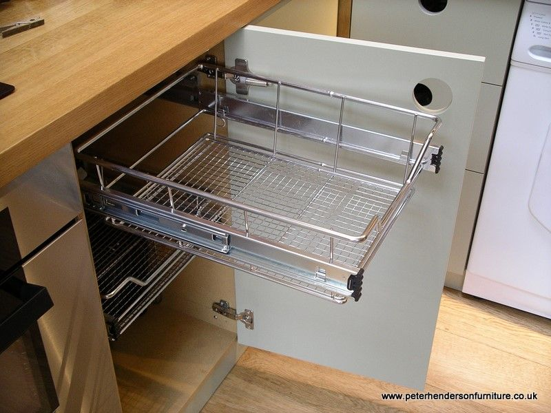 Replacement Shelves For Kitchen Cabinets Unfinished Table Pull Out Baskets Drawers | Oak And French Grey ...