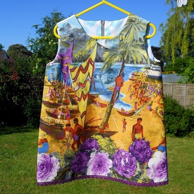 hawaii Vintage fabric dress for GIRL £23.00