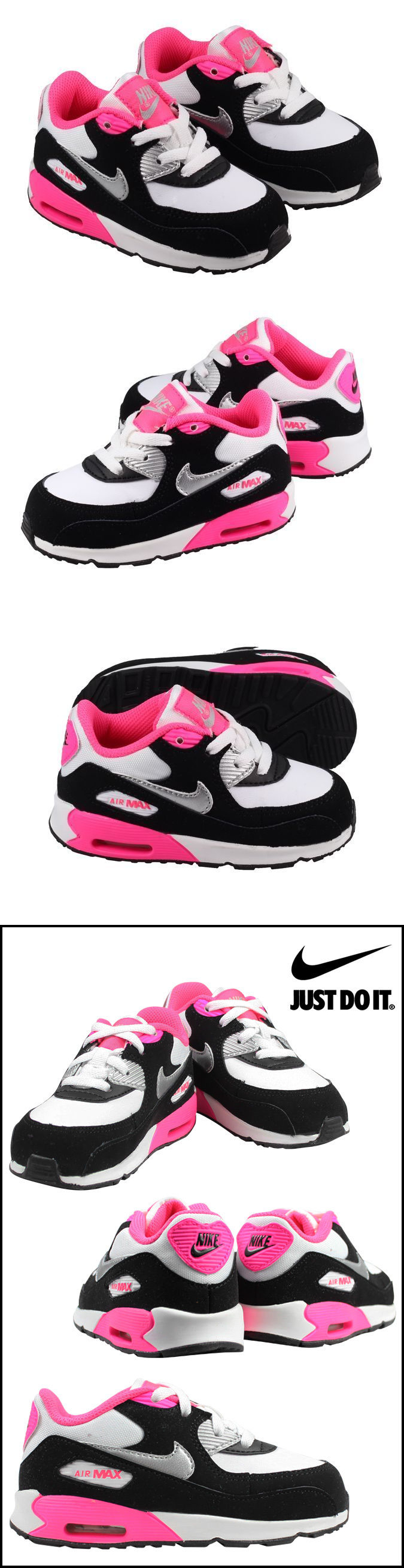 Baby Shoes 147285: Toddler Girls Nike Air Max 90 Sneakers