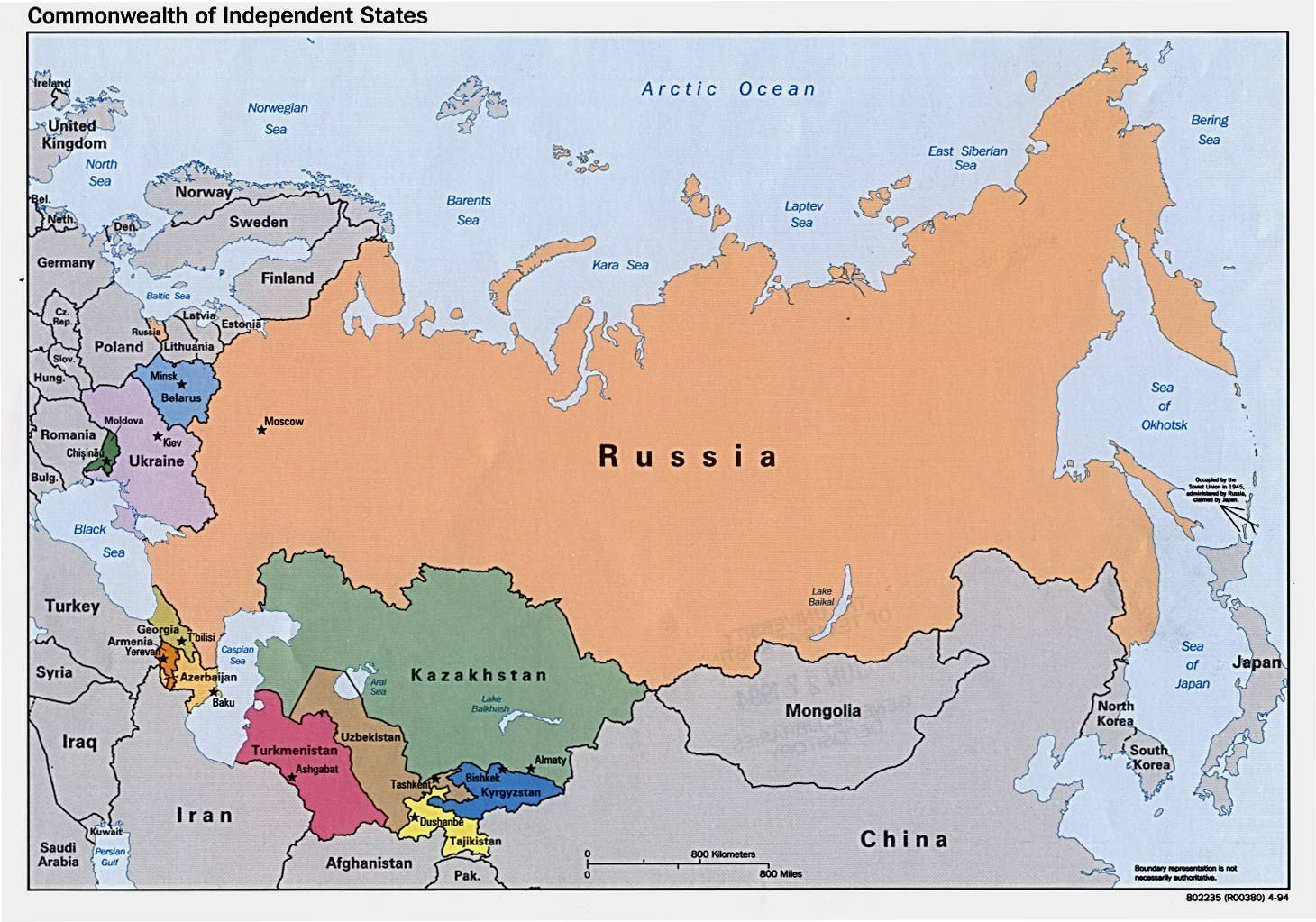 Kyrgyzstan and the Russian Resurgence | Asia map, Russia map ...