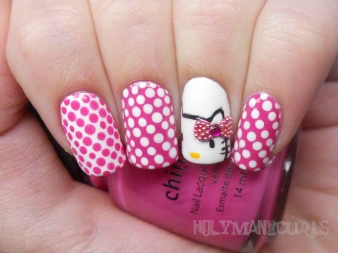 Holy Manicures: Hello Kitty Nails. China Glaze Rich & Famous ...