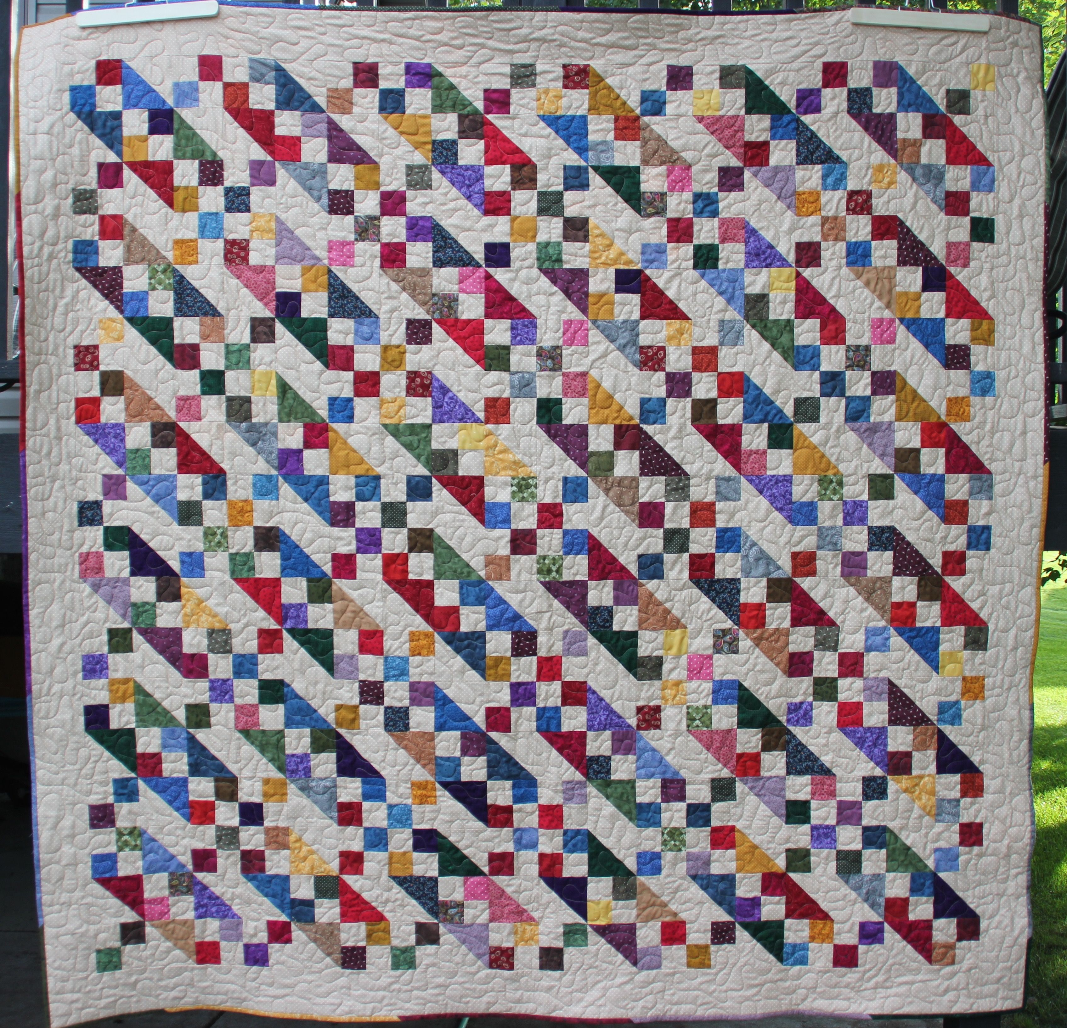 From my stash a scrappy Jacob's Ladder. Followed the Missouri ... : missouri quilt company binding tutorial - Adamdwight.com