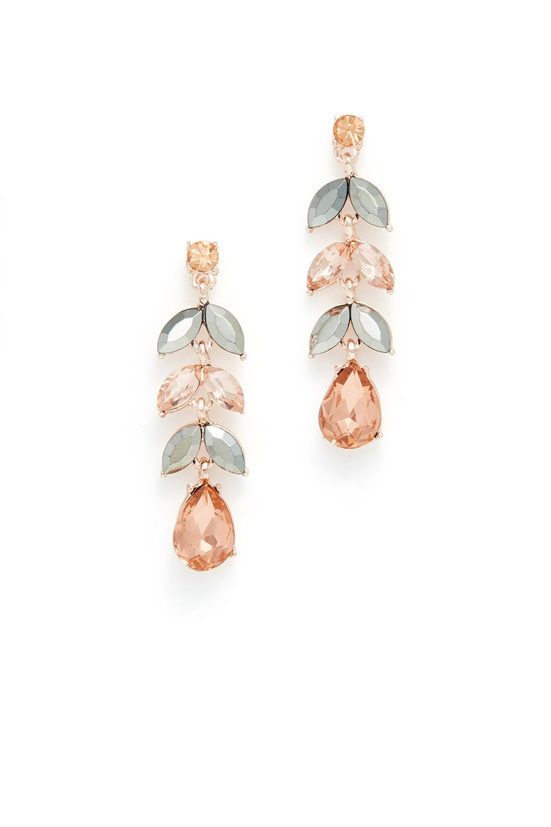 Rent Rose Gold Leaf Drops by Slate Willow Accessories for 5 only