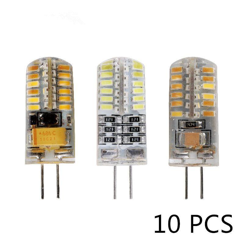 10pcs Lot G4 Led Bulb Ac Dc 12v 220v 3w 5w 6w Replace 10w 20w 30w Halogen Light 360 Beam Angle G4 Christmas Led Lamps G4 Led Led Replacement Bulbs Halogen Lamp