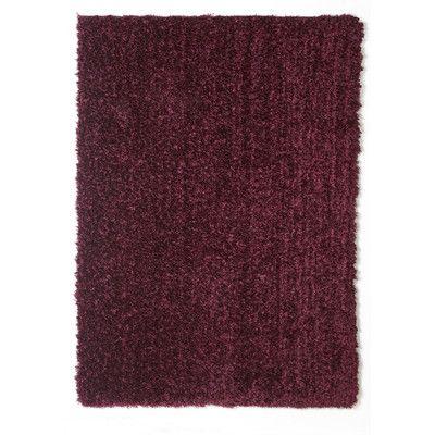 Welspun Spaces HomeBeyond© Teddy Shag Maroon Area Rug Rug Size: