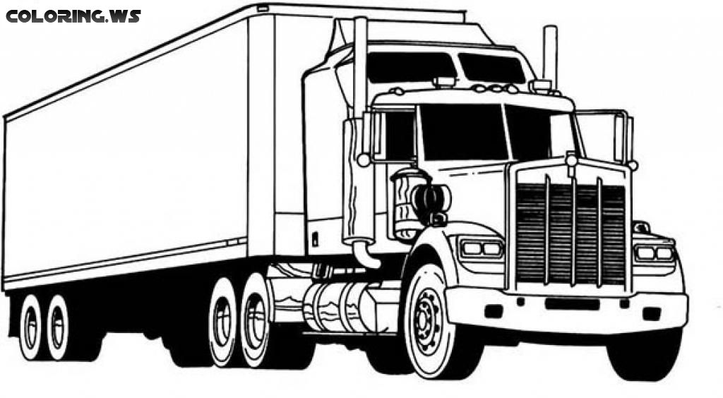 eighteen wheeler coloring pages - photo#17