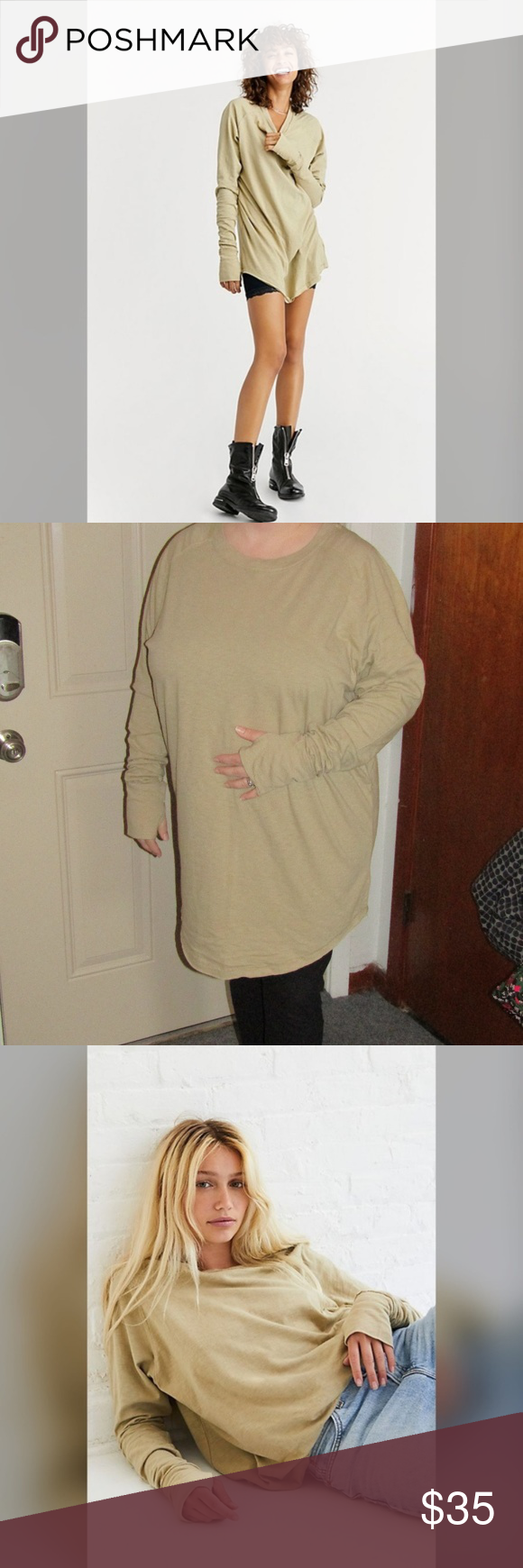 XL left! Free People Arden Moss Tee Free People