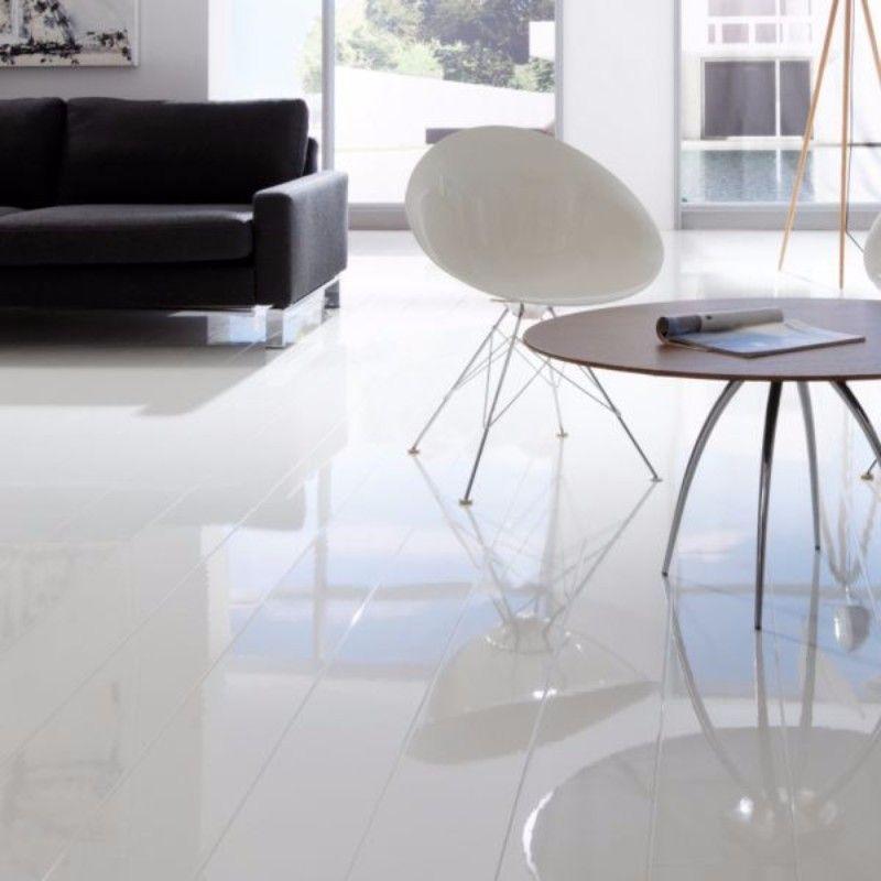 Elesgo Extra Sensitive Supergloss Artic White Laminate Flooring 15 29m2 White Laminate Flooring White Laminate Waterproof Laminate Flooring