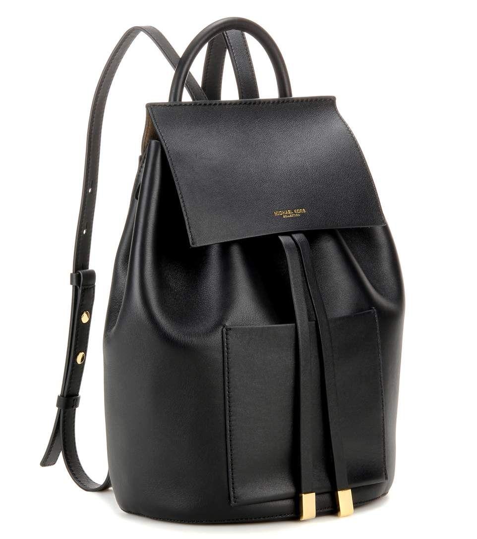 michael kors collection schwarzer rucksack miranda large aus leder bags wallets. Black Bedroom Furniture Sets. Home Design Ideas