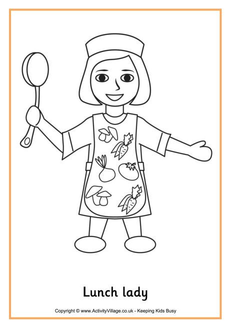 Lunch Lady Colouring Page School Coloring Pages