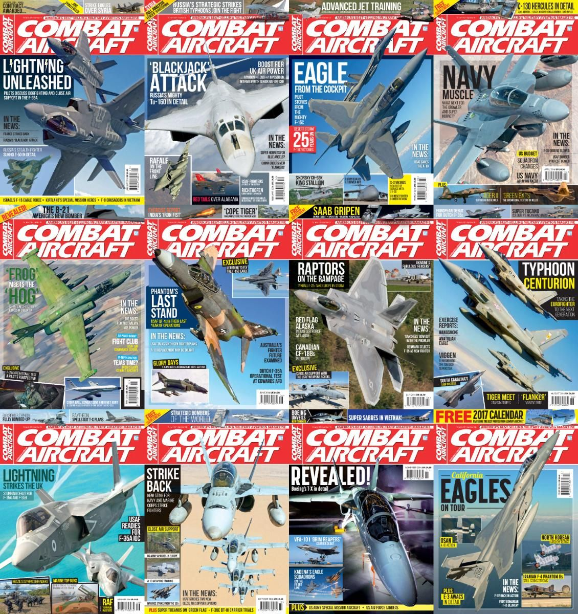 Combat Aircraft  2016 Full Year Issues Collection Aircraftmagazinesebooks