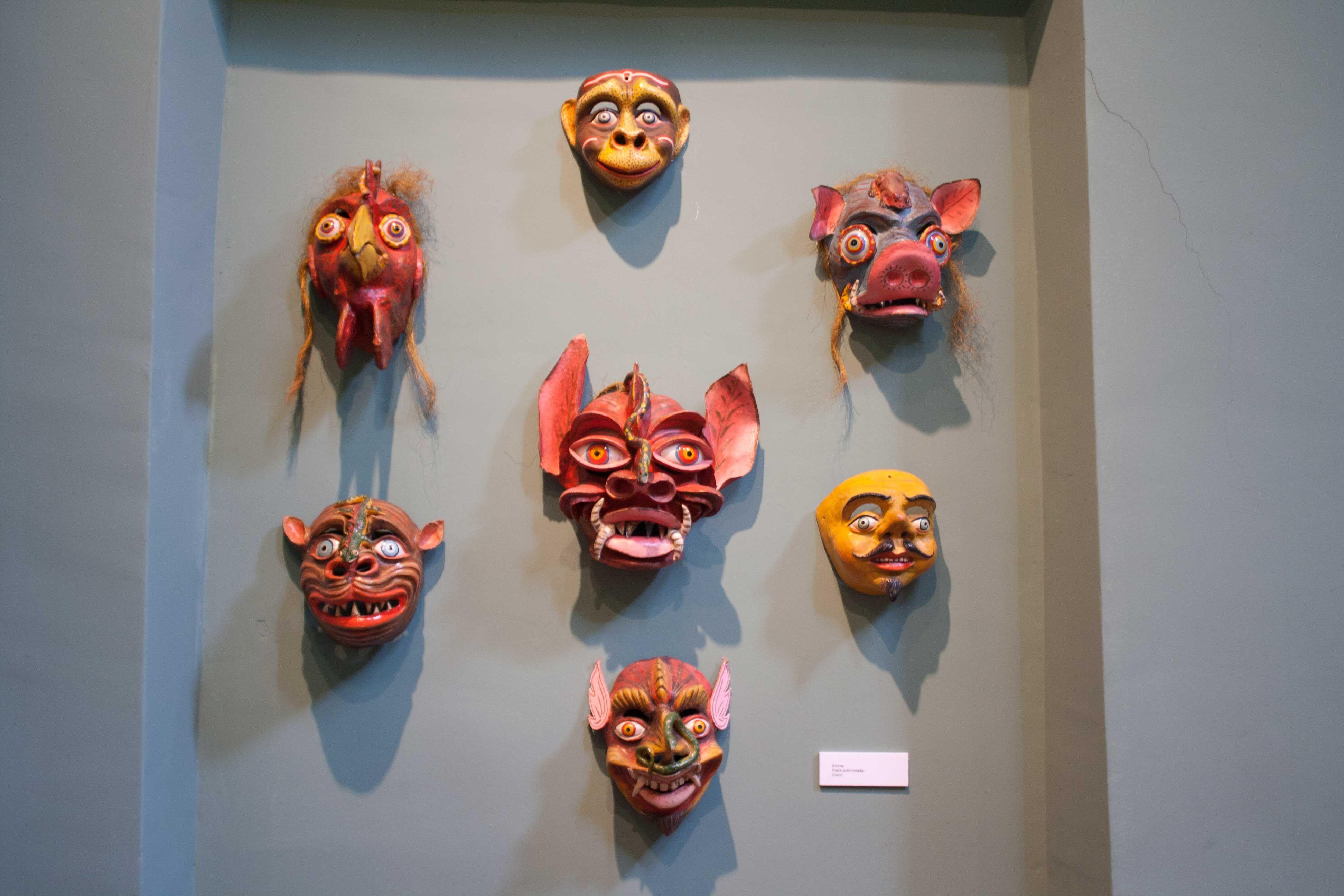 Máscaras que se usan en la Diablada Puneña