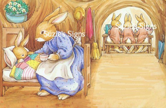 For Suzi Handmade Peter Rabbit Fabric Story Bag