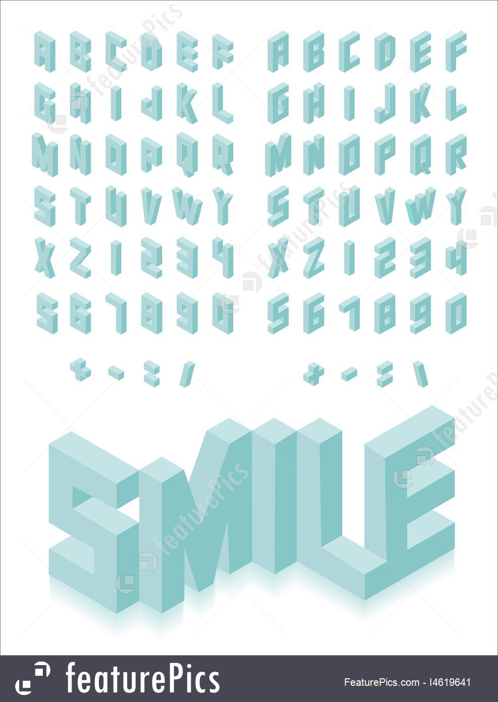Isometric 3d Type Font Set Isolated Background Illustration Eps10 Vector File Geometric Font Lettering Fonts Hand Lettering Fonts