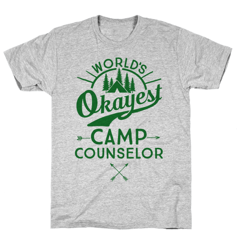 2bb6bbf55481 World s Okayest Camp Counselor T-Shirt