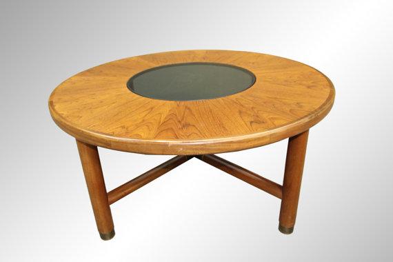 A Very Rare Model Teak Coffee Table With Matched Grain Sun Burst Design Danish Modern Vintage Mid Century Sideboard