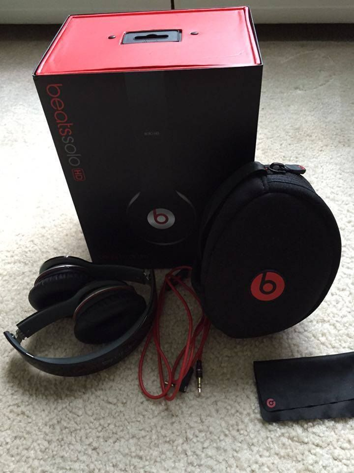 Black Red Beats Solo Hd By Dr Dre Wired Original Box Beatsbydrdre Black And Red Black Headphones Beats Solo Hd