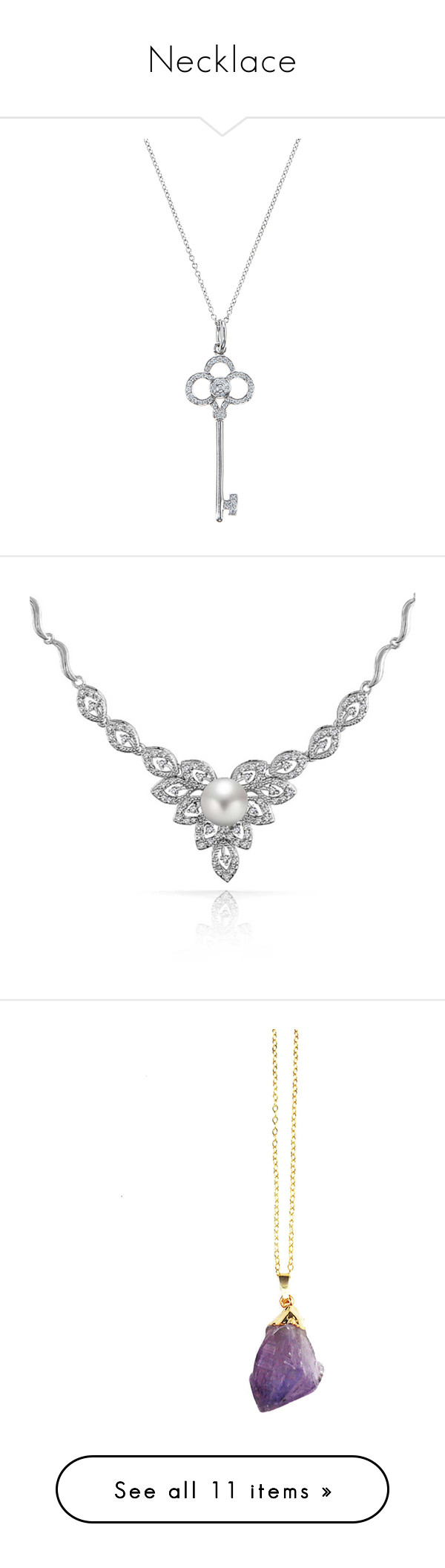 """""""Necklace"""" by badglitz ❤ liked on Polyvore featuring Jaeger, Alexandre Birman, Sensi Studio, jewelry, necklaces, accessories, silver, long diamond necklace, vintage jewelry and long necklace"""