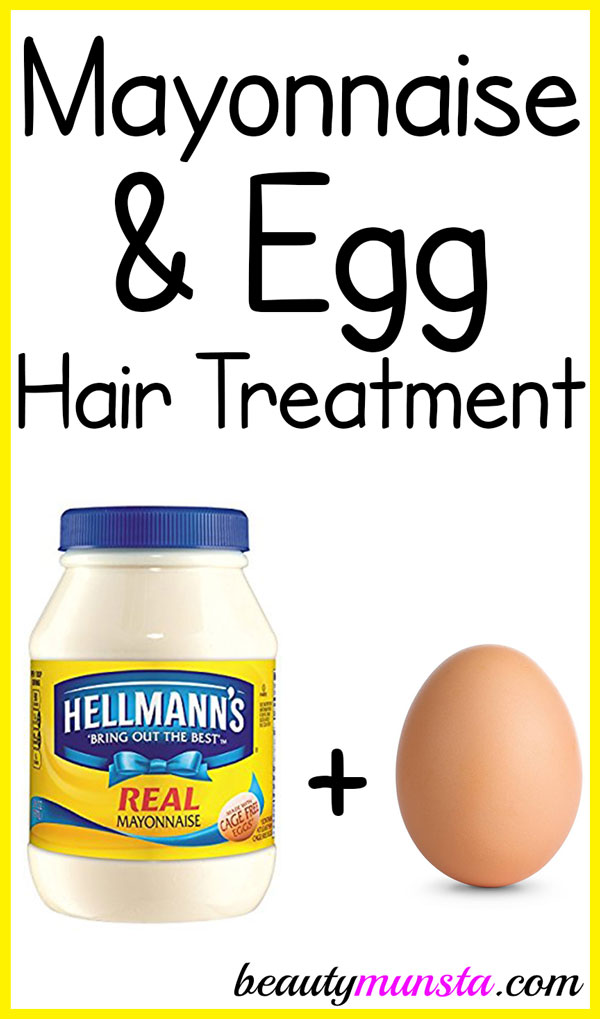 Mayonnaise and Egg Treatment for Hair - beautymunsta - free natural beauty hacks and more!
