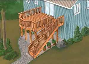 Split-Level Deck Plans - WoodProjects.com WoodProjects.com ...