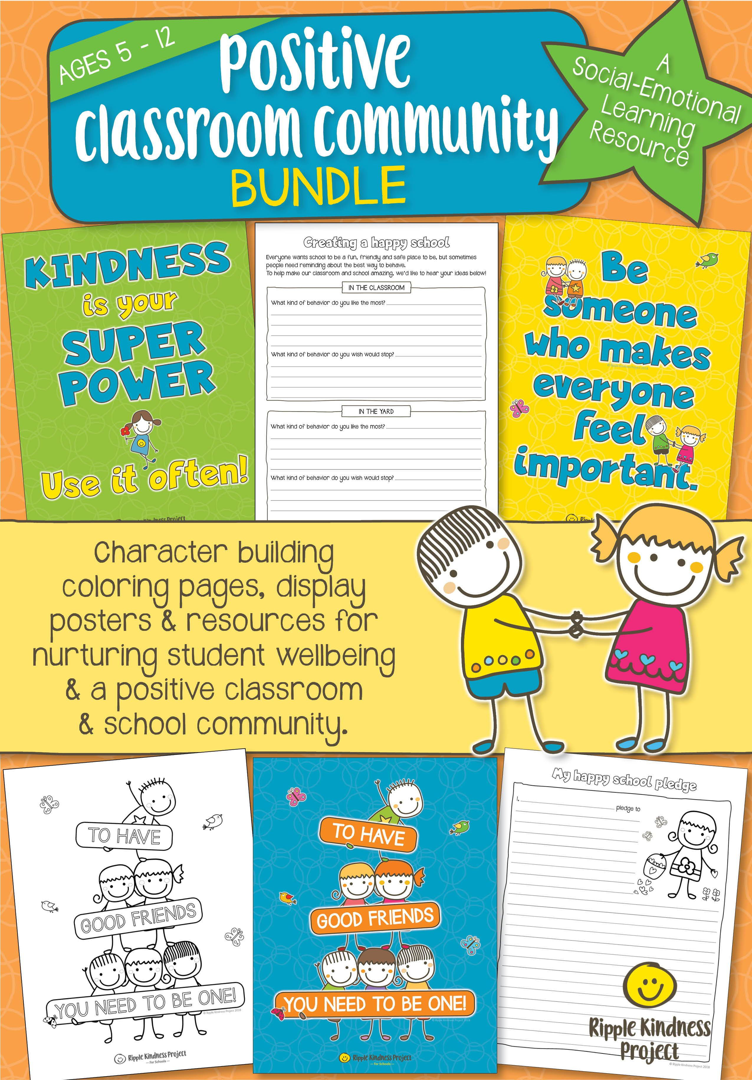 Kindness Curriculum Shown To Improve >> Inspire A Positive Caring Classroom Culture With This