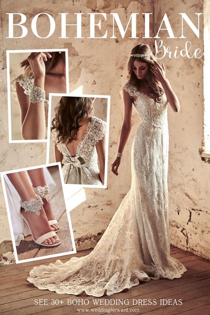 boho wedding dresses of your dream bohemian wedding pinterest