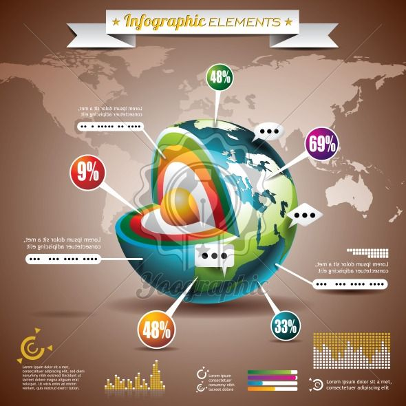 Vector design set of infographic elements world map and information vector design set of infographic elements world map and information graphics on mobile phone gumiabroncs Gallery