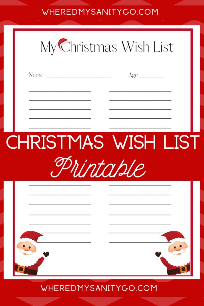 Christmas Wish List Printable For Kids Free Download Kids Christmas List Kids Christmas List Printable Free Christmas Printables