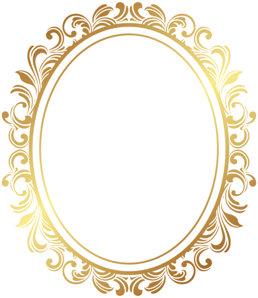 Oval Border Deco Frame Png Clip Art Zolotoj Uzor Dekorativnye Ramki Svadebnyj Siluet