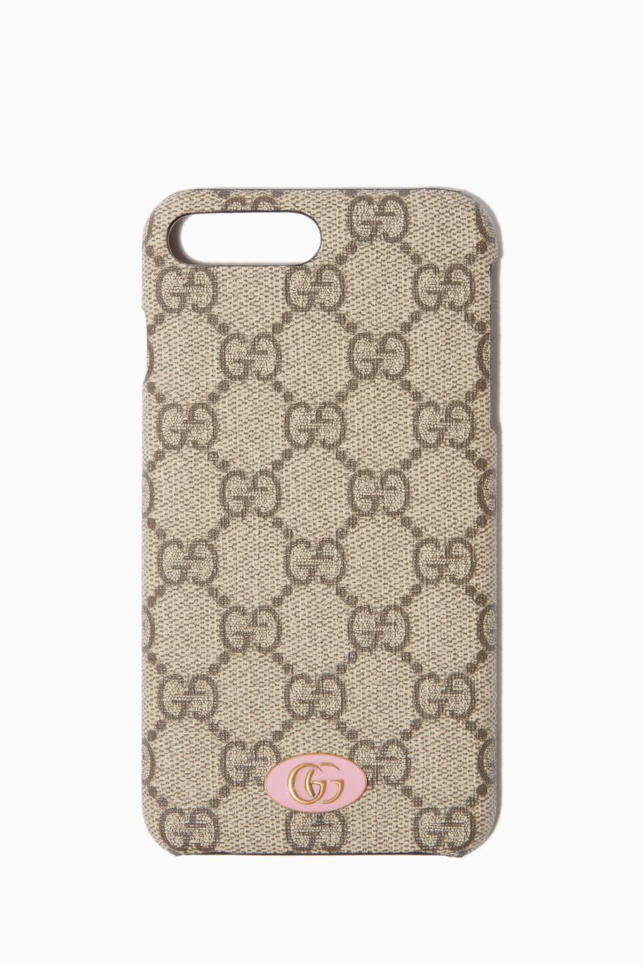 caaad5f37d2 Shop Luxury Gucci Brown GG Supreme Logo iPhone® 8 Plus Case